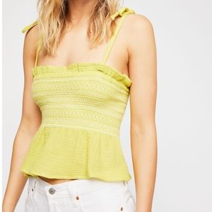Free People Smock It To Me Tube Top Lime Green